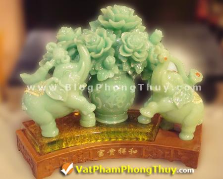 voi phu quy tuong hoa f194 xanh Voi Phong Thủy, biểu tượng may mắn, linh vật phong thủy được tôn vinh và ngưỡng mộ